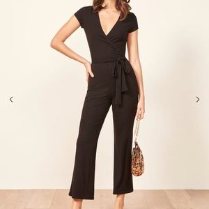 🌟Reformation the Rossi black jumpsuit size small